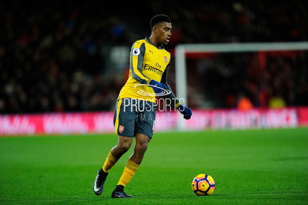 Alex Iwobi (17) of Arsenal during the Premier League match between Bournemouth and Arsenal at the Vitality Stadium, Bournemouth, England on 3 January 2017. Photo by Graham Hunt.