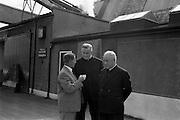 13/09/1962<br /> 09/13/1962<br /> 13September 1962<br /> Monsiginors visit Urney Chocolates Belgard Road, Tallaght, Dublin.  Pictured L-R: Arthur Behan, Works Manager, Urney; Mons. Thomas Ryan (Vatican Secretariat of State) and Mons. J. Lynch (Australia).