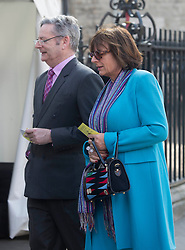 David Frost Memorial Service at Westminster Abbey<br /> <br /> <br /> Rosa Monckton and Dominic Lawson<br /> <br /> <br /> <br /> <br /> Pic by Gavin Rodgers/Pixel 8000 Ltd © Licensed to London News Pictures. Photo credit: Gavin Rogers/LNP