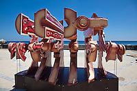 Contemporary art on the streets of Havana.