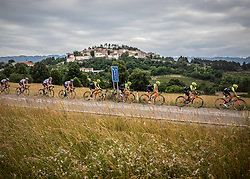 Peloton in Stanjel during 4th Stage of 26th Tour of Slovenia 2019 cycling race between Nova Gorica and Ajdovscina (153,9 km), on June 22, 2019 in Slovenia. Photo by Vid Ponikvar / Sportida