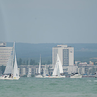 Blue Ribbon Regattta race along the 160 km course around Lake Balaton near Balatonfured, 150 km (93 miles) west of Budapest in Hungary on July 18, 2019. ATTILA VOLGYI