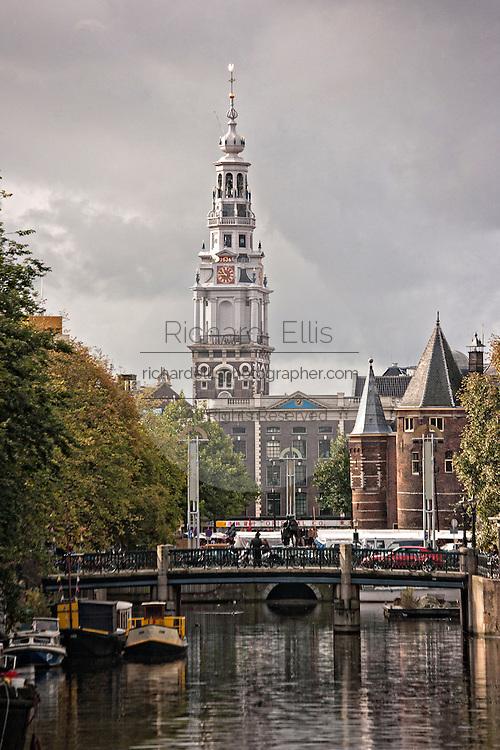 The Zuiderkerk bell tower in Amsterdam.