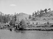 9969-5247. Mountain farm on the Wallowa River near Minam, Oregon. September 29, 1941.