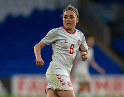 CARDIFF, WALES - Tuesday, April 13, 2021: Denmark's Nanna Christiansen during a Women's International Friendly match between Wales and Denmark at the Cardiff City Stadium. (Pic by David Rawcliffe/Propaganda)