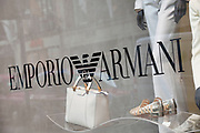Sign for high end fashion and exclusive brand Emporio Armani.