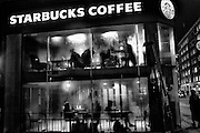 Starbucks, Oxford St. near, Tottenham Court Rd.. London. 16 January 2016