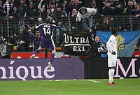 Photo: Maarten Straetemans/Sportsbeat Images.<br /> Anderlecht v Tottenham Hotspur. UEFA Cup. 06/12/2007.<br /> Bart Goor (Anderlecht) celebrates his goal (1-0)