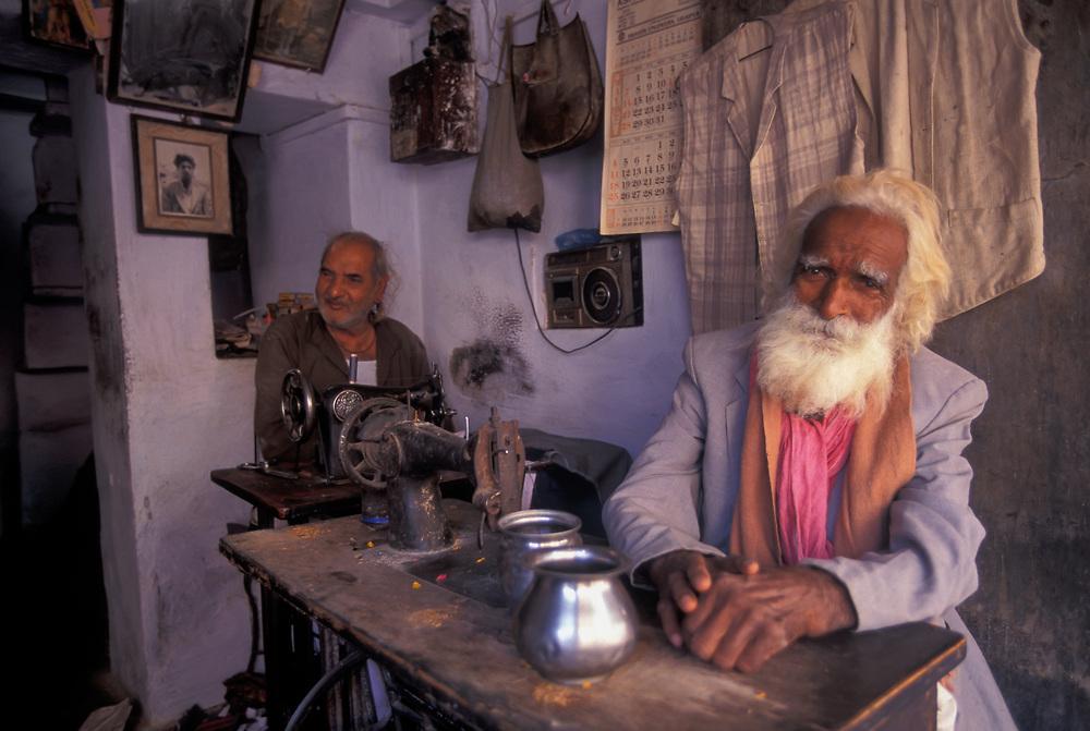 Tailor's shop, Udaipur, Rajasthan.