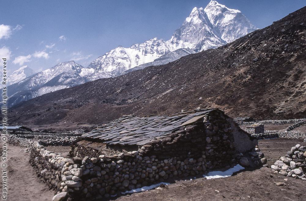 Hotel Snow Land, Pheriche, Nepal, in 1987