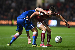 Stoke City's Kevin Wimmer (left) and Bristol City's Callum O'Dowda battle for the ball during the Carabao Cup, third round match at Ashton Gate Stadium, Bristol.