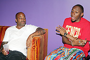 l to r: Damon Dash and Mos Def at The Black Star Concert presented by BlackSmith and Live N Direct held at The Nokia Theater in New York City on May 30, 2009