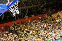 Basket during friendly match between National teams of Slovenia and Latvia for Eurobasket 2013 on August 2, 2013 in Arena Zlatorog, Celje, Slovenia. (Photo by Vid Ponikvar / Sportida.com)