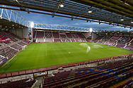 General view inside Tynecastle Park, Edinburgh, Scotland before the Betfred Scottish League Cup match between Heart of Midlothian and Inverness CT on 6 October 2020.