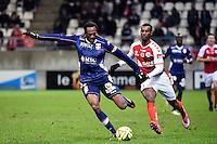 Kasim ABDALLAH / Odair FORTES  - 13.12.2014 - Reims / Evian Thonon  - 18eme journee de Ligue1<br />Photo : Fred Porcu / Icon Sport