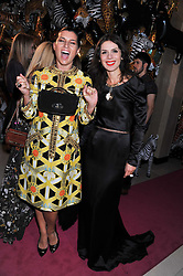 Left to right, GRACE WOODWARD and LARA BOHINC at the Mulberry Spring/Summer 2012 - London Fashion Week afterparty held at Claridge's, Brook Street, London on 18th September 2011.