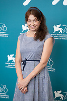 Venice, Italy, 31st August 2019, Director Francesca Archibugi at the photocall for the film Vivere (To Live) at the 76th Venice Film Festival, Sala Grande. Credit: Doreen Kennedy/Alamy Live News