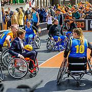 NLD/Tilburg/20170427- Koningsdag 2017, Pieter-Christiaan een het rolstoelballen