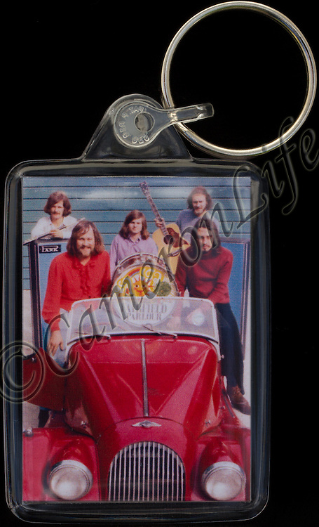 Fairfield Parlour (Red Morgan) - Key Fob with image approx. 35mm x 50mm from 1970 Isle of Wight Music Festival exhibition on the front. The reverse has an exclusive CameronLife  1970 IW festival design