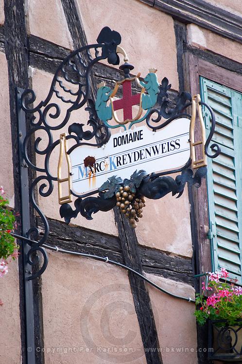 wrought iron sign marc kreydenweiss andlau alsace france