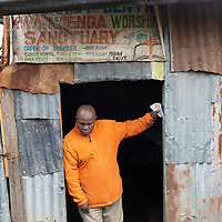 Faith-based groups such as this church in Mukuru Kwa Njenga support education on HIV and gender-based violence.
