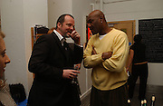 PAUL PEARSON AND DELROY LINDO, 'The Exonerated' Riverside Studios. 24 February 2006. ONE TIME USE ONLY - DO NOT ARCHIVE  © Copyright Photograph by Dafydd Jones 66 Stockwell Park Rd. London SW9 0DA Tel 020 7733 0108 www.dafjones.com