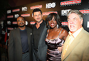 l to r: F.Grary Gray, Gerad Butler, Viloa Davis and Bruce Gills at The 13th Annual UrbanWorld Film Festival Premiere of ' Law Abiding Citizen'  held at AMC 34th Street on September 23, 2009 in New York City