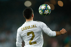 November 26, 2019, Madrid, MADRID, SPAIN: Dani Carvajal of Real Madrid during the UEFA Champions League football match, Group A, played between Real Madrid and Paris Saint-Germain at Santiago Bernabéu Stadium on November 26, 2019, in Madrid, Spain. (Credit Image: © AFP7 via ZUMA Wire)