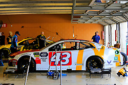 February 22, 2019 - Hampton, GA, U.S. - HAMPTON, GA - FEBRUARY 22: The race car of #43: Darrell Wallace Jr., Richard Petty Motorsports, Chevrolet Camaro McDonald's sits in the garage prior to first practice for the MENCS Folds of Honor QuikTrip 500 race on February 22, 2019 at the Atlanta Motor Speedway in Hampton, GA.  (Photo by David John Griffin/Icon Sportswire) (Credit Image: © David J. Griffin/Icon SMI via ZUMA Press)