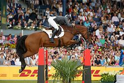Alvarez Aznar Eduardo, (ESP), Rokfeller de Pleville Bois Margot<br /> Individual Final Competition<br /> FEI European Championships - Aachen 2015<br /> © Hippo Foto - Dirk Caremans<br /> 23/08/15