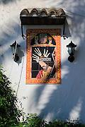 Ceramic religious picture of Jesus Christ, Vejer de la Frontera, Cadiz province, Spain