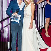 NLD/Hilversum/20160926 - Finale Miss Nederland 2016 Jessie Jazz Vuijk met partner Tim Douwsma