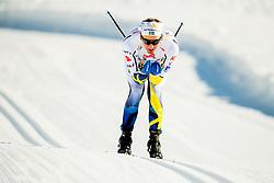 January 31, 2018 - Goms, Switzerland -  Eddie Edstrom of Sweden competes in the men's 15km classic technique interval start during the FIS U23 Cross-Country World Ski Championships on January 31, 2018 in Obergoms. (Credit Image: © Vegard Wivestad Gr¯Tt/Bildbyran via ZUMA Press)