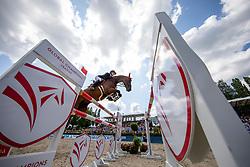 BORMANN, Finja (GER), A crazy son of Lavina<br /> Berlin - Global Jumping Berlin 2019<br /> CSI5* - GCT Team-Wettbewerb<br /> 2. Runde; <br /> Qualifikation LGCT; <br /> Springprüfung nach Fehlern und Zeit für Teams und Einzelreiter, international<br /> 27. Juli 2019<br /> © www.sportfotos-lafrentz.de/Stefan Lafrentz