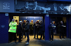"""A general view of fans outside Goodison Park during the Carabao Cup, Third Round match at Goodison Park, Liverpool. PRESS ASSOCIATION Photo. Picture date: Wednesday September 20, 2017. See PA story SOCCER Everton. Photo credit should read: Nick Potts/PA Wire. RESTRICTIONS: EDITORIAL USE ONLY No use with unauthorised audio, video, data, fixture lists, club/league logos or """"live"""" services. Online in-match use limited to 75 images, no video emulation. No use in betting, games or single club/league/player publications"""