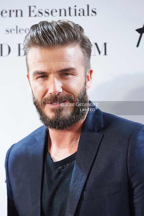 David Beckham presents its selection of unmissable Modern Essentials Collection by H&M for spring-summer at H&M store on March 20, 2015 in Madrid. David with H & M continues in fashion line for H&M with David Beckham Bodywear