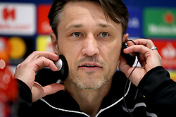 Bayern Munich Manager Niko Kovac during the press conference at Anfield, Liverpool.