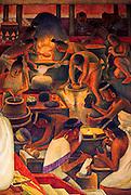 MEXICO, MEXICO CITY, MURAL Rivera mural 'Zapotec Civilization'