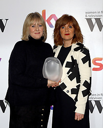 Siobhan Finneran (right) presented Sarah Lancashire with the MåáAåáC best performance award at the Women in Film & TV Awards at the Hilton hotel in central London.