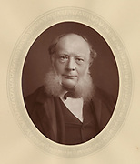 'Charles William Siemens (1823-1883), c1882, German-born mechanical and electrical engineer. The regenerative furnace open hearth furnace used in the Siemens-Martin steel process was an important  contribution to industry.'