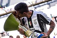 Paulo Dybala<br /> Esultanza Juventus Campione d'Italia . Celebration Juventus Italian championship winner <br /> Torino 21-05-2017 Juventus Stadium Football Calcio Serie A 2016/2017 Juventus - Crotone .<br /> Foto Insidefoto