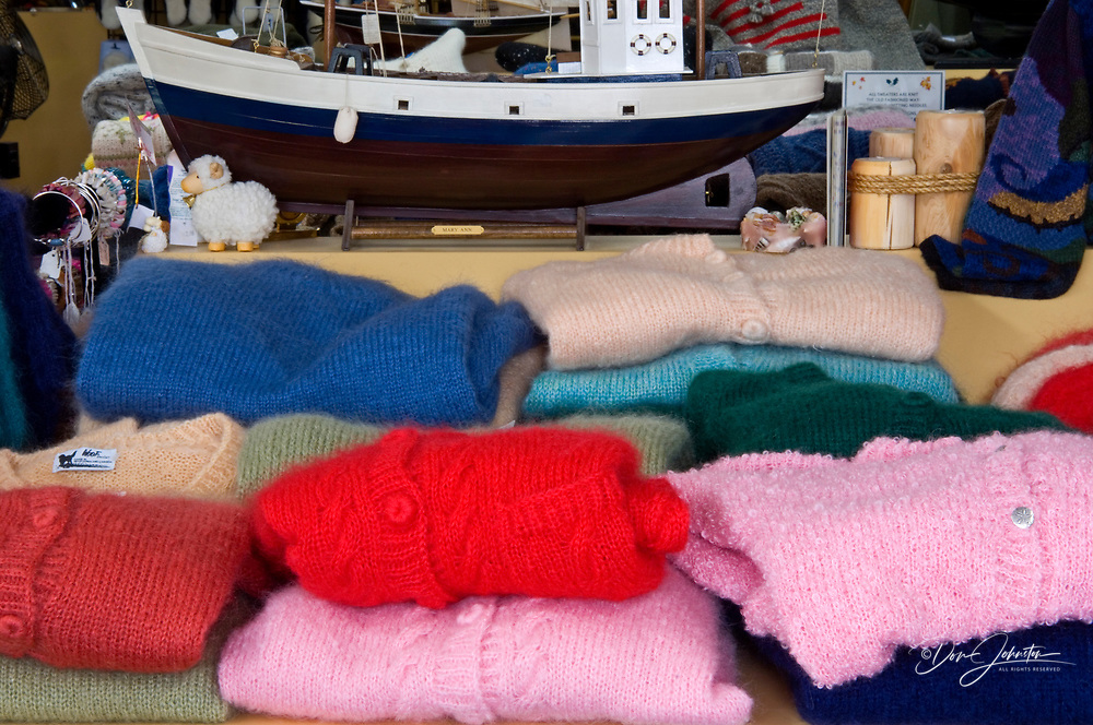 Hand-knitted sweaters for sale (Rustico Bay Wool Company), North Rustico, PE/PEI, Canada