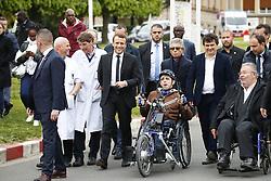 April 24, 2017 - Garches, France - Emmanuel Macron avec Patrick Pelloux  (Credit Image: © Panoramic via ZUMA Press)