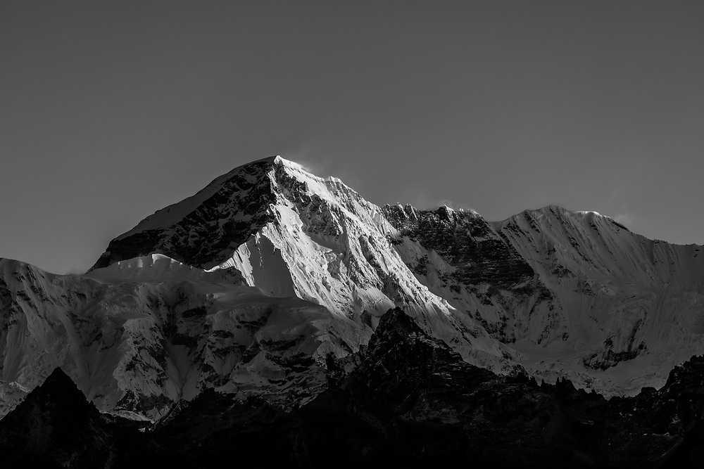 Cho Oyu is the sixth highest mountain in the world at 8,188m above sea level. Shot from Sundar Peak