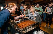 Rich Sumner (left) of Triumph Brewery hands out Chilli to the crowd during the Chilli Cookoff, which was one of the final events of this years 23rd Annual New Hope - Lambertville Winter Festival  Sunday, January 26, 2020 at Triumph Brewery in New Hope, Pennsylvania. (WILLIAM THOMAS CAIN/PHOTOJOURNALIST)