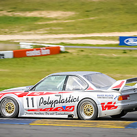 Simon Emmerling powers down the main straight in th Schnitzer built BMW 635Csi Sports Sedan at Wanneroo Raceway.