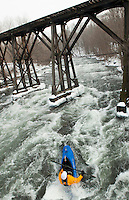 New Year's Day kayak under the Franklin Trestle.  Karen Bobotas Photographer