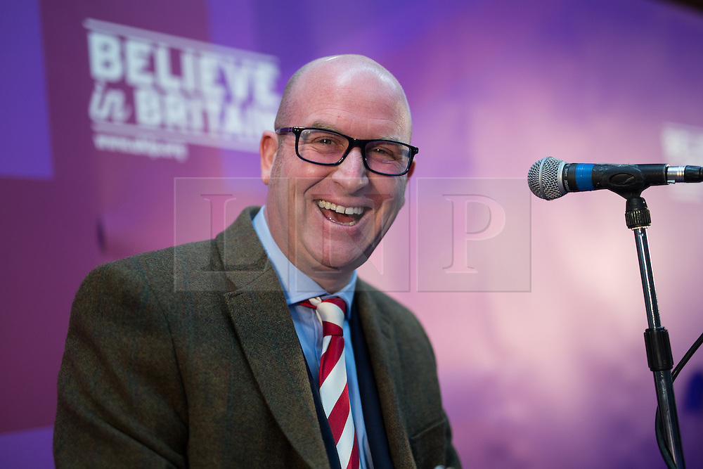 © Licensed to London News Pictures . 23/03/2015 . Middleton , UK . PAUL NUTTALL . UKIP leader Nigel Farage , Deputy Leader Paul Nuttall and Economics Spokesman Patrick O'Flynn announce UKIP's economic policy at Concept Metal Products and Co Ltd in Middleton , Lancashire . Photo credit : Joel Goodman/LNP