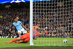 17th October 2017 - UEFA Champions League - Group F - Manchester City v Napoli - Gabriel Jesus of Man City scores their 2nd goal - Photo: Simon Stacpoole / Offside.