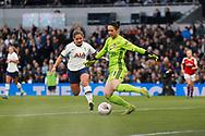 Kit Graham closes down Manuela Zinsberger during the FA Women's Super League match between Tottenham Hotspur Women and Arsenal Women FC at Tottenham Hotspur Stadium, London, United Kingdom on 17 November 2019.